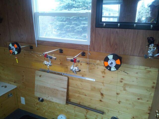4 New Lindell Ice Fishing Fish House Rod Holder Balances Rod Holding Jig *castle