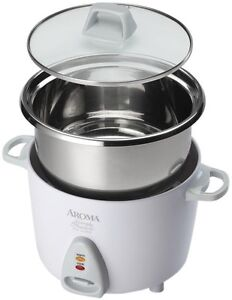 Electric Rice Cooker Stainless Steel Pot 6-Cup Automatic Slow Warm Oatmeal Soup