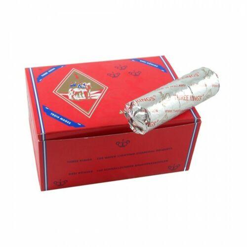 Charbon a Chicha Three Kings 33mm 1 Rouleau Trois Mages pour Narguilé