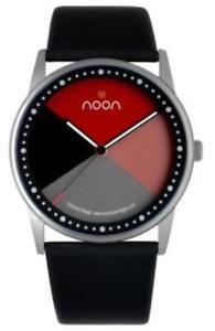 Noon-Copenhagen-Changer-Steel-Women-039-s-Watch-46-002L1-Leather-Black