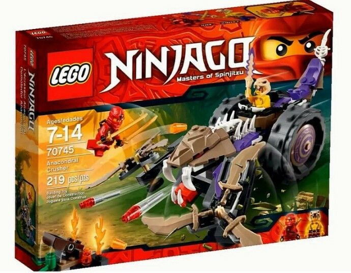 LEGO Ninjago 70745 Anacondrai Crusher Toy Set New In Box Sealed #70745