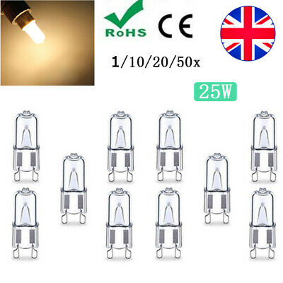 G9 25W Warm White Halogen Light Bulb 3000-3500K Globe 240V Capsule Clear Bulbs