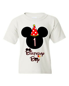 Image Is Loading Birthday Boy Kids T Shirt Mickey Mouse