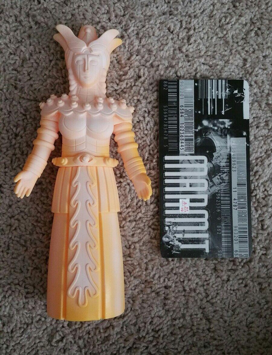 ROBOT madre Kaiju personaggio GIALLO MARMIT VINILE Sofubi toygraph Marusan RXH RARO