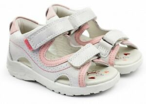 83b4de739f1fb Ecco Baby Girl Peekaboo Leather Shoes Sandals Rose White Gr.19 | eBay