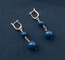 100% GENUINE AAA 925 Sterling silver AFGHAN MIDNIGHT blue Lapis unique earrings