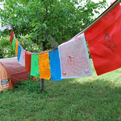 Banderas Tibetanas 40 Banderas de 28 x 27 calidad Seda