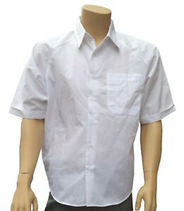 CATHEDRAL 3 x Mens Short Sleeved Dress Seconds Quality Shirt White Poly Cotton