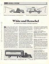 WIKING CHRONIK WHITE und HENSCHEL ZUGMASCHINEN Teil 2, von 1988