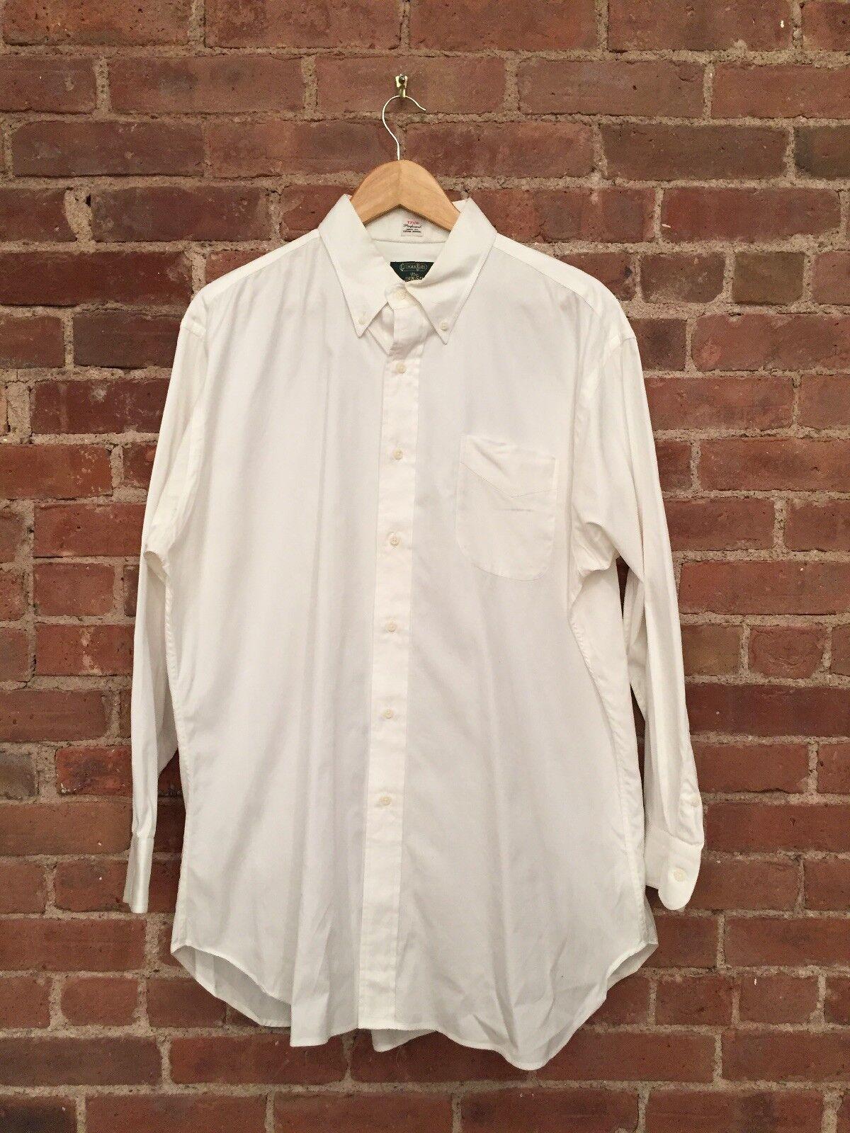 Gitman Bros For The Hound, Pinpoint Oxford Dress Shirt Sz 17 33