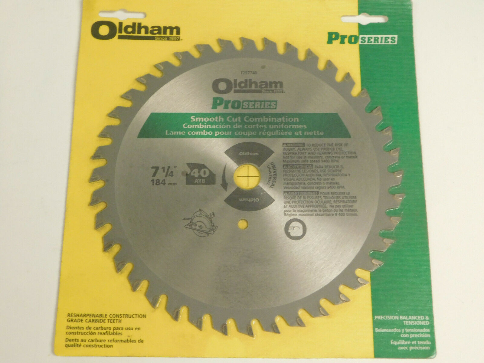 -Oldham  725-7740 LQ (7-1 4 )   Smooth Cut Combination