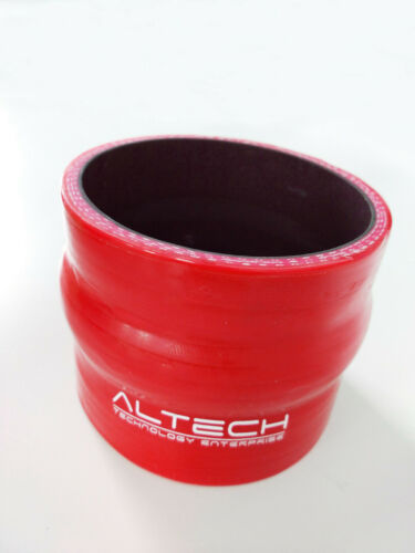 """2.5/"""" Inch ID64 mm Straight Hump Silicone Hose Intercooler Coupler Tube Pipe Red"""