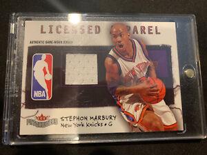 STEPHON-MARBURY-2003-04-Fleer-Patchworks-158-300-Licensed-Apparel-Jersey-Knicks