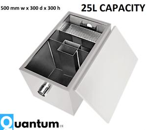 25 L Capacité En Acier Inoxydable Commercial Filtre à Graisse Interceptor Graisse Séparateur-afficher Le Titre D'origine