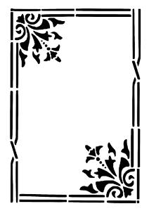 """Galería de símbolos /""""marco 3/"""" en a4"""