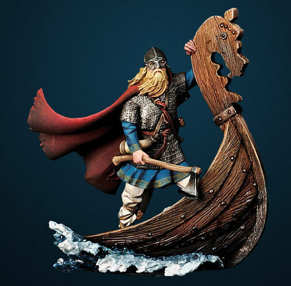 Andrea Miniatures Viking Drakkar Raider inc.part longboat 1/32nd Unpainted Kit