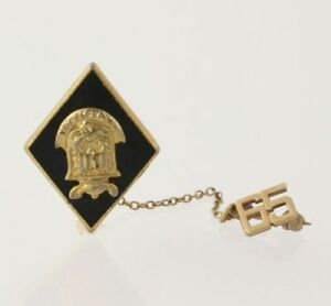 Vintage-School-Pin-Class-195-Southern-Crest-Lapel-Keepsake-Collectors-Estate