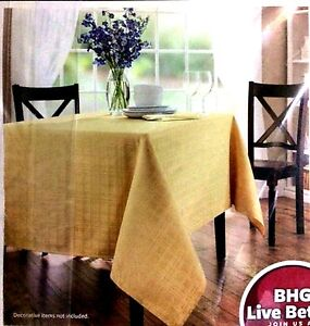 Better Homes Microfiber Tablecloth SAHARA Gold Fabric Stain Resistant 60 x 84