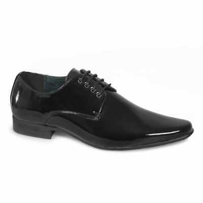 Mens Pointed Patent Smart Wedding