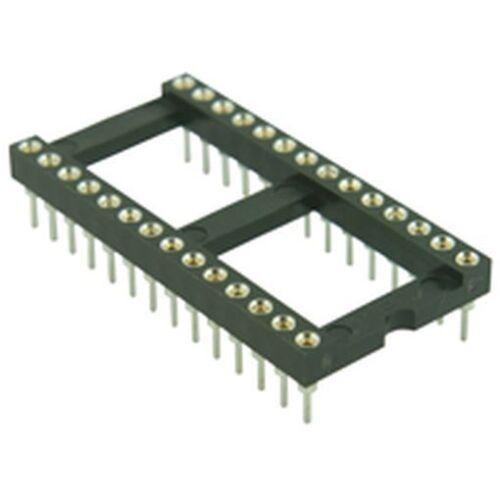 Tourné pin dil ic socket 7,62 mm 20 pin Pack de 3