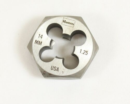 Irwin Hanson 14mm 1.25 Hex Threading DIE Made in U.S.A