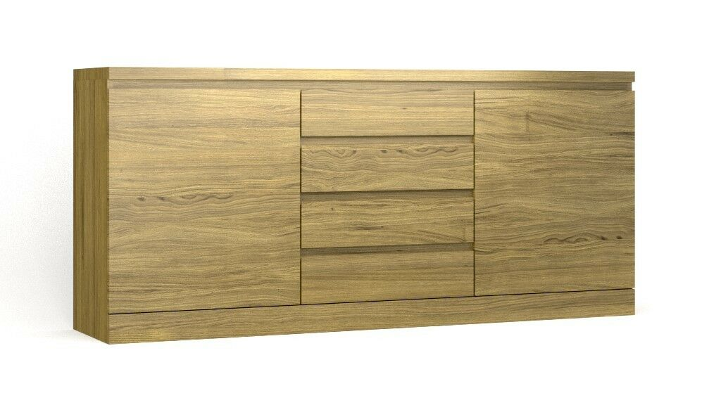 sideboard kommode in eiche massiv ge lt ebay. Black Bedroom Furniture Sets. Home Design Ideas