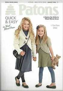 ed2a50c24 VAT Free Knitting PATTERN ONLY Patons Easy Knits Girls Cardigans ...