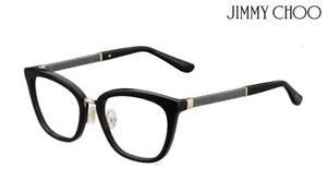 909d0ae84c74 JIMMY CHOO Glasses Frames JC165 (FA3) - Black / Gliter RRP-£289 ...
