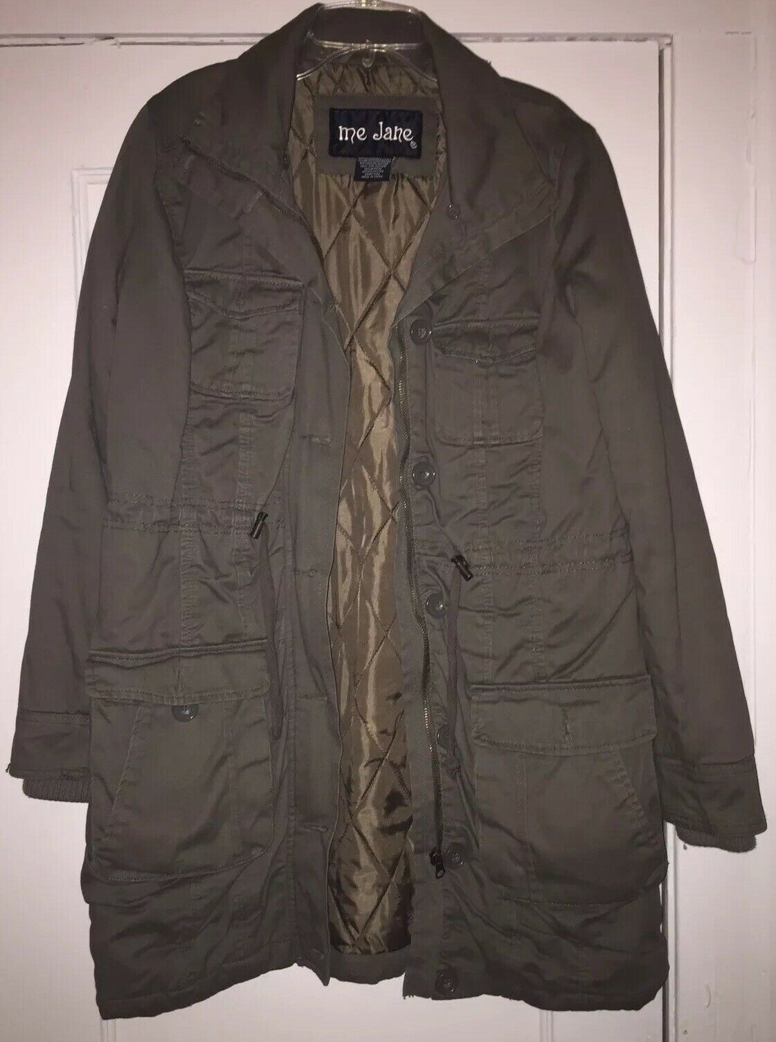 Me Jane Olive Green Military Trench Coat/Jacket S… - image 6