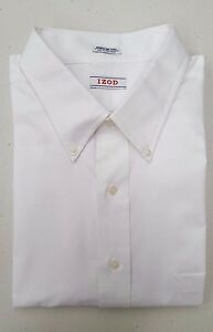 IZOD-Big-and-Tall-Men-039-s-Regular-Fit-Button-Down-Dress-Shirt-White