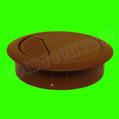 80 mm Solide Bureau Plastique Oeillet brun table Câble Tidy Wire trou Housse Vendeur Britannique