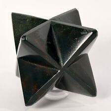 "2.6"" Natural Bloodstone 8 Point Merkaba Star Heliotrope Gemstone Crystal - India"