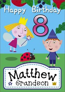 Image Is Loading Personalised BEN And HOLLY Birthday Card Holly 039