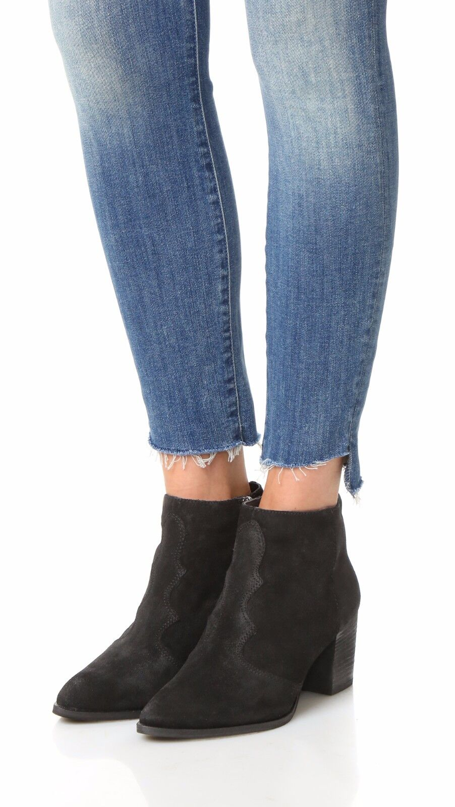 0 size 11 Dolce Vita Lennon Black Suede Heel Bootie Womens Ankle Shoes