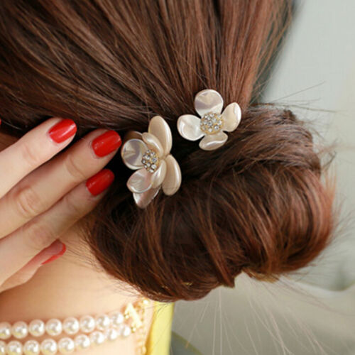 Hot Hair Accessories Pearl Elastic Rubber Bands Headwear For Women Girl $TCA