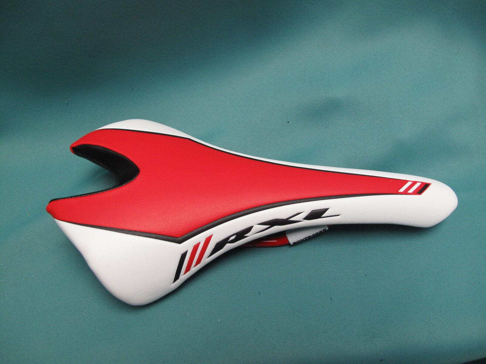 Trek Bontrager RXL Bike Saddle Brand New  Ti Rails 148 mm Red White