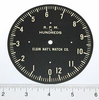 Vintage Replacement Boat R.p.m. Gauge Dial By Elgin C.1930s Wp101