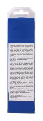 "1//16/"" x 7/"" SÜA TIG 10 PACK Blue - 2/% Lanthanated Tungsten Electrode"