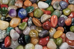 "3 lbs RARE Indian Tumbled Stones - 1""-1.25"" Avg. - Wire Wrapping, Reiki, Crafts"