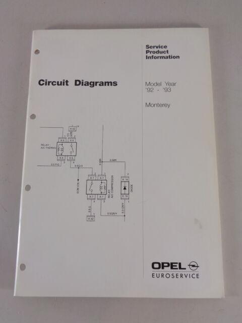 Workshop Manual  Wiring Diagrams Vauxhall Monterey Model
