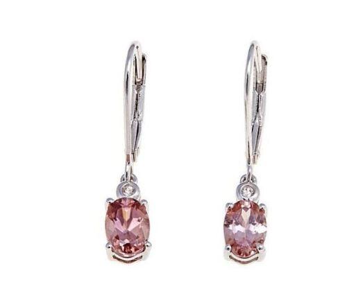 """Colleen Lopez /""""Enchanted Dreams/"""" Oval Gemstone /& White Zircon S S Drop Earrings"""