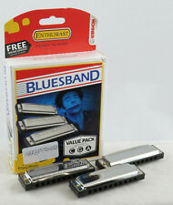 HOHNER 3P1501BX Blues Band Harmonica 3-pack Keys C G and a