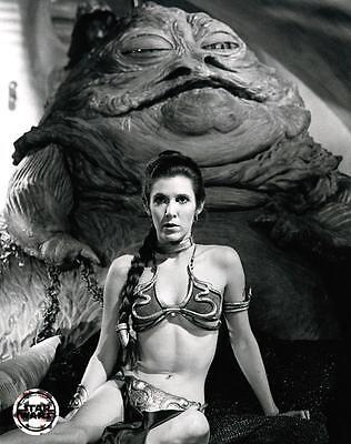 Star Wars Princess Leia Jabba the Hutt Movie Poster Film Canvas Wall Art Print