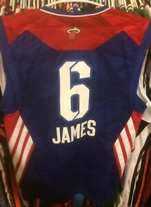 outlet store 460a5 573aa Details about LeBron James 2013 NBA All Star Game Jersey Miami Heat Lakers  Adidas Rare #6 King