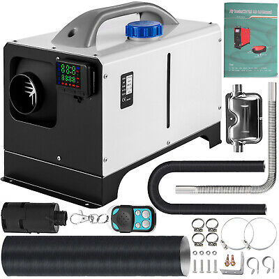 Silencer VEVOR 12V 8KW Diesel Air Heater Remote Control Single Air Outlet for Car Trucks Motor-Home Boat Bus CAN Diesel Fuel Heater 12V All in One Diesel Air Heater with LCD Switch