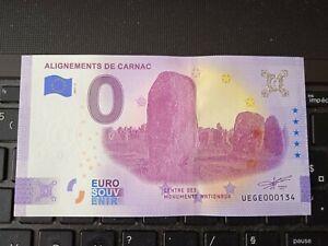 BILLET EURO SOUVENIR 2021-4 ALIGNEMENTS DE CARNAC