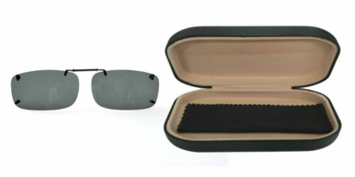 Polarized Clip-On Sunglasses Over Glasses Comes With Hard Case//UV 400 Protection