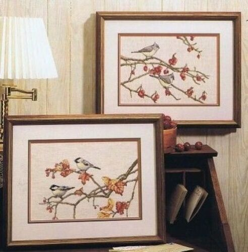 Birds Of a Feather Cross Stitch Chart 2 Designs Color Charts