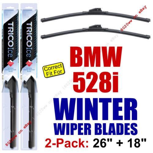 fit 2011-2016 BMW 528i 35260//180 WINTER Wiper Blades 2-Pack Premium