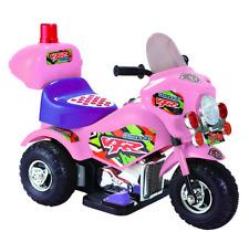 Moto Elettrica per Bambini Mini Moto Baby Cops 6V Tre Ruote Triciclo Rosa